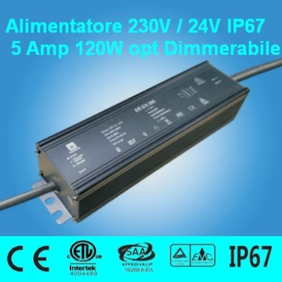 Power Supply 24V 5 Amp 120W waterproof IP67