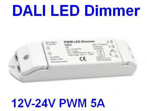 DALI LED DIMMER 12-24V 5A PWM