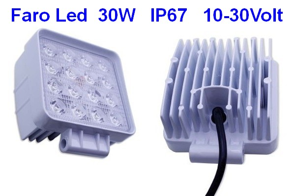 Faro Led Stagno IP67 30W 12v 24v