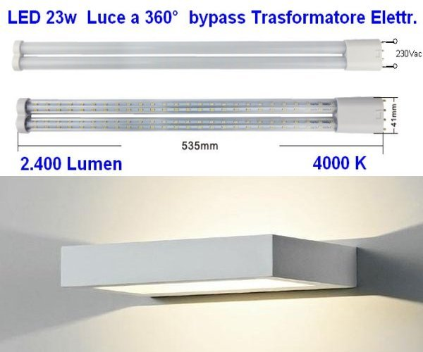 Led lamp 2G11 23w like dulux 55w light 360 degree