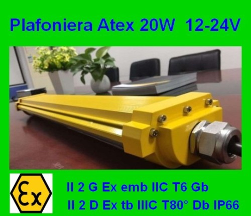 Atex Led Lamp 12-24Vdc 20w Zone 1, Zone 21, 22
