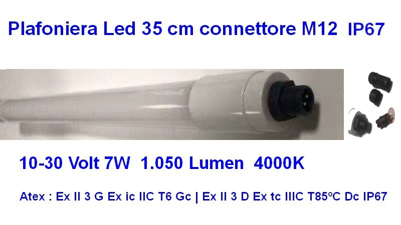 Led Tube Atex Zone 2 , 22 IP67 35 cm 12-24 Volt