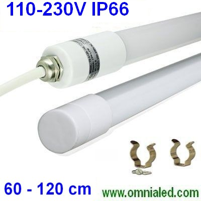 Led Tube Waterproof IP65 60 cm 110-230 Vac