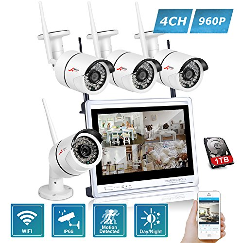 Kit 4 wifi camera with nvr and Monitor