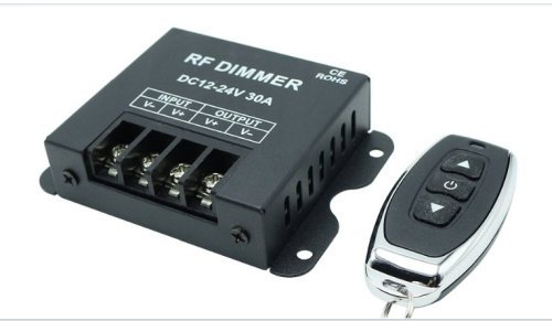 Dimmer pwm 12v / 24Volt with remote control 30A 360-720W