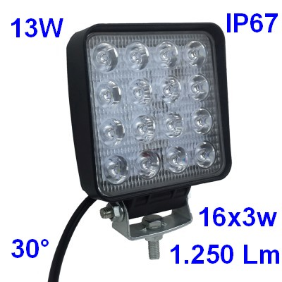 Faro Led Stagno IP67 13W 12v 24v
